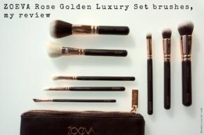 ZOEVA Rose Golden Luxury Set brushes, my review