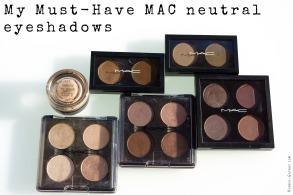 My Must-Have MAC neutral eyeshadows