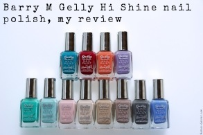 Barry M Gelly Hi Shine nail polish, my review