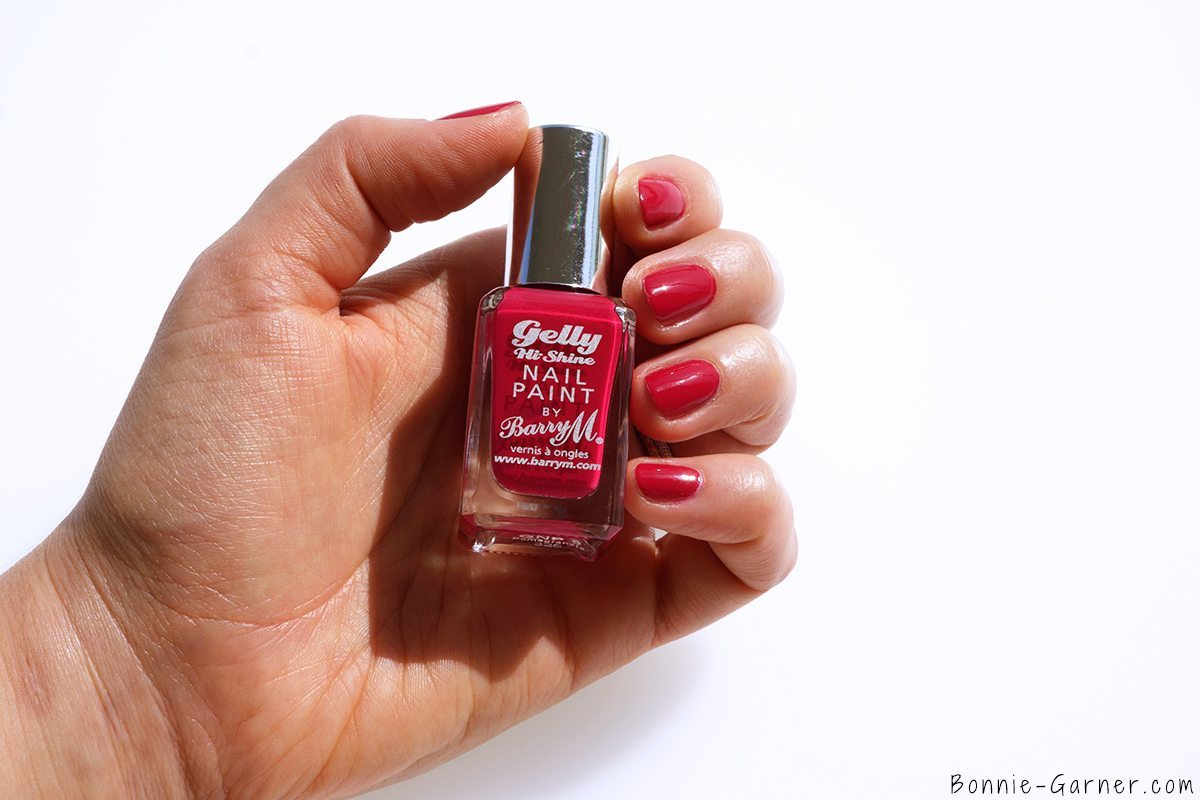 Barry M Gelly Hi Shine Nail Polishes Pomegranate