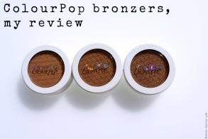 ColourPop bronzers, my review