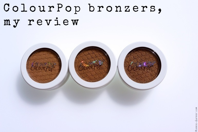 ColourPop bronzers, my review