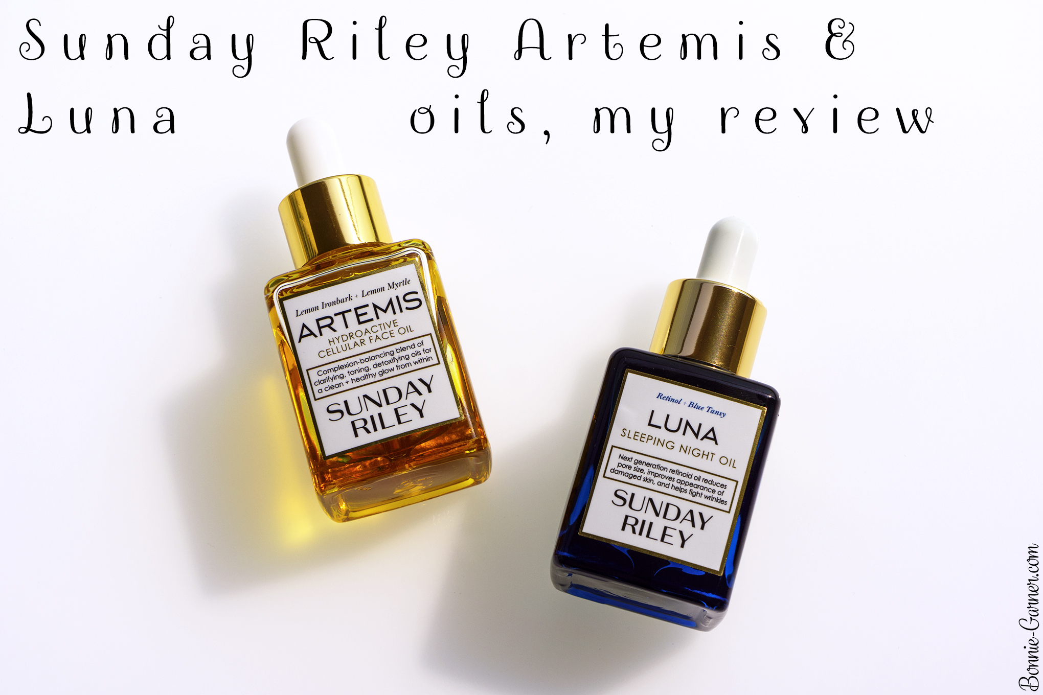 Sunday Riley Artemis & Luna oils, my review