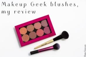 Makeup Geek blushes, my review