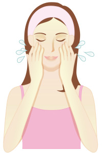 demaquillage laver visage à l'eau