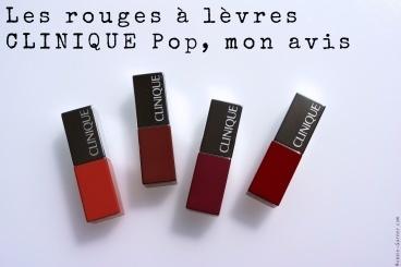 Les rouges à lèvres CLINIQUE Pop, mon avis