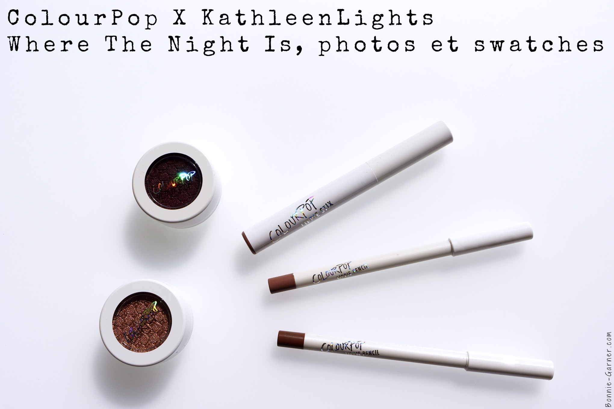 ColourPop X KathleenLights Where The Night Is, photos et swatches