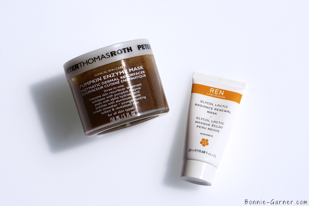 Peter Thomas Roth Pumpkin Enzym Face Mask, Ren Glycol Lactic Radiance Renewal Mask