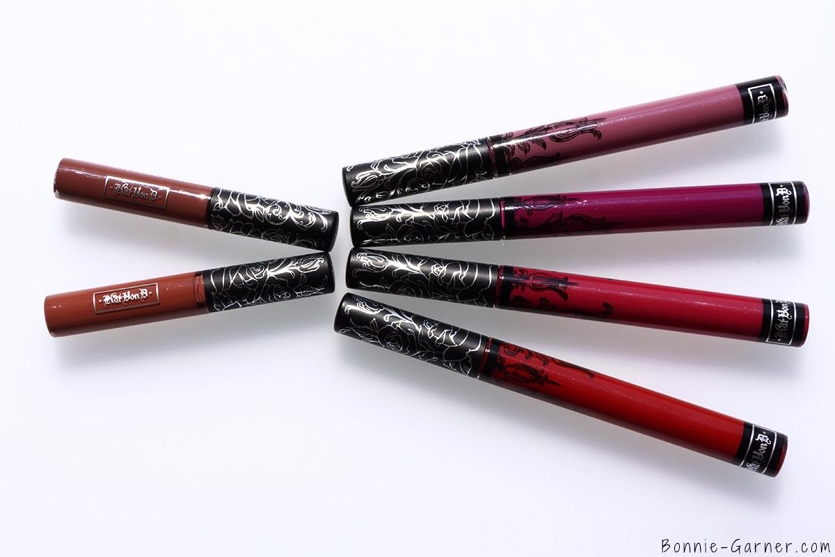 Kat Von D Everlasting liquid lipstick Lolita, Lolita II, Lovesick, Bauhau5, Bachelorette, Outlaw