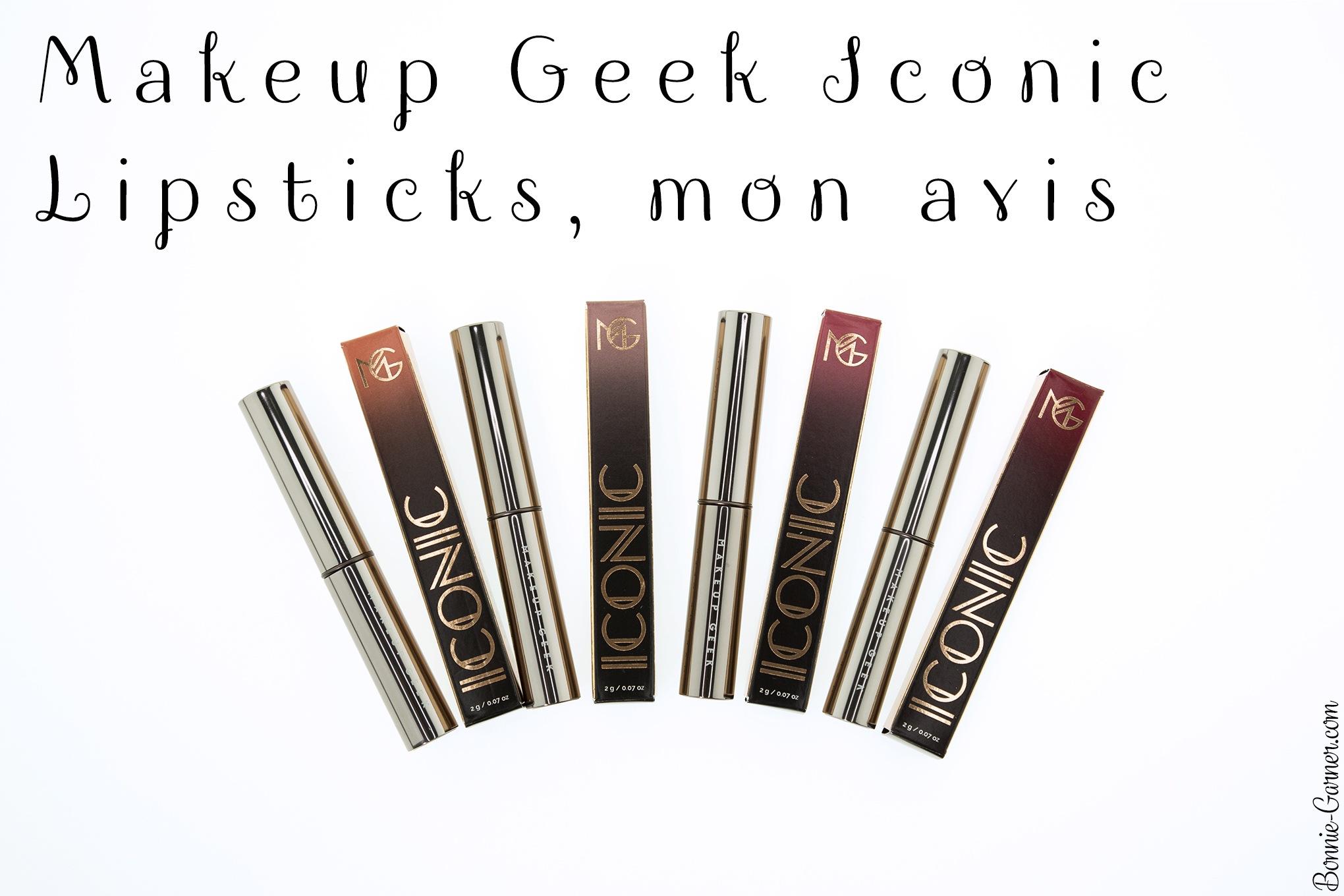Makeup Geek Iconic Lipsticks, mon avis