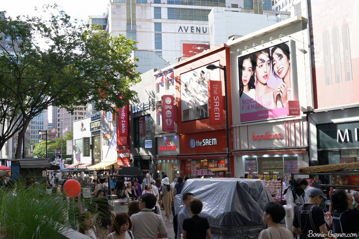 Myeongdong street Seoul