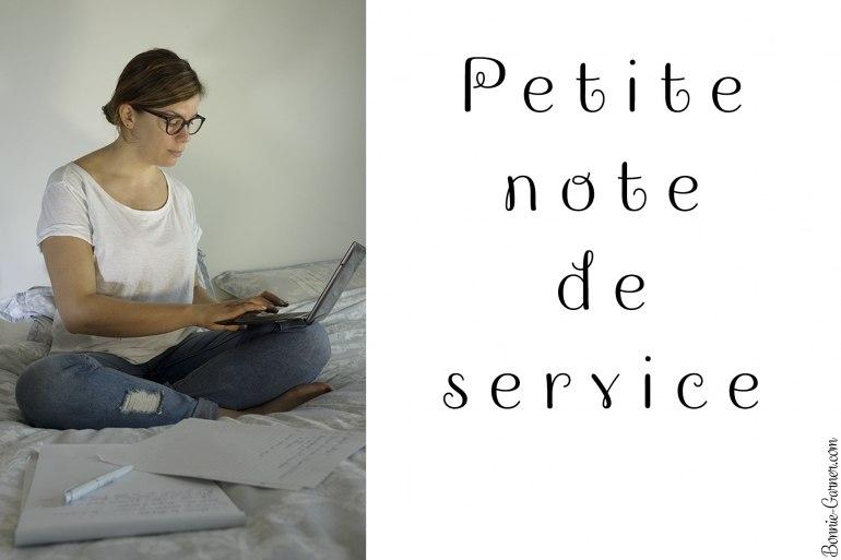 Petite note de service
